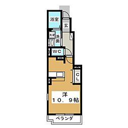 ジュエリースターC[1階]の間取り