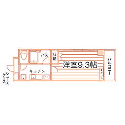 熊本県熊本市中央区渡鹿4丁目の賃貸マンションの間取り