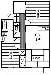 ファミール本郷[A201号室]の間取り