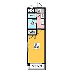 サンヴィエール神山[4階]の間取り