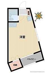 フェリオ西早稲田[403号室]の間取り