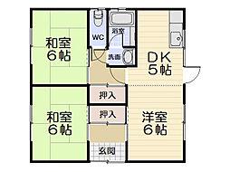 [一戸建] 三重県松阪市市場庄町 の賃貸【三重県 / 松阪市】の間取り