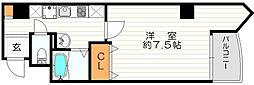 ラフォンテ阿波座[9階]の間取り