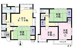 [一戸建] 埼玉県新座市栄3丁目 の賃貸【/】の間取り