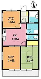 サトウハイツ[2階]の間取り