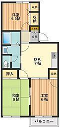 シャトレーサチ[2階]の間取り