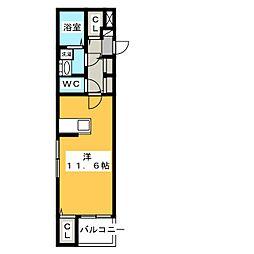 リアン M[4階]の間取り