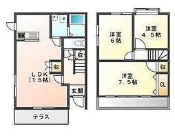 [テラスハウス] 静岡県浜松市南区青屋町 の賃貸【/】の間取り
