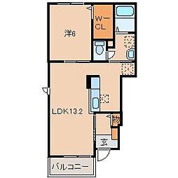 和歌山電鐵貴志川線 貴志駅 徒歩29分の賃貸アパート 1階1LDKの間取り
