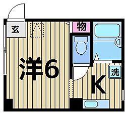 東京都足立区千住1丁目の賃貸マンションの間取り