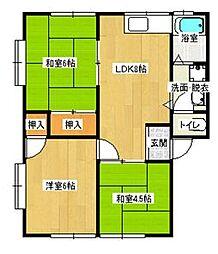 西江コーポ[2階]の間取り