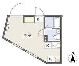 m−station 2階ワンルームの間取り