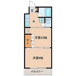宮城県仙台市青葉区高松1丁目の賃貸マンションの間取り