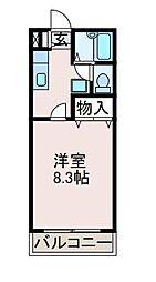 サニーサイドマンション[1階]の間取り