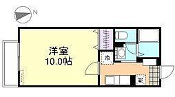 秋桜B棟[2階]の間取り
