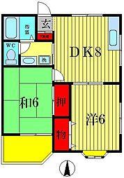 オンダハイツ第1[2階]の間取り