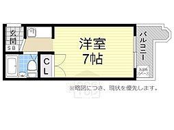 コーニッシュ桜川[203号室]の間取り