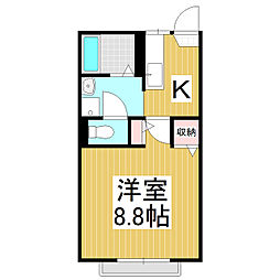 アストリア21 B棟[1階]の間取り