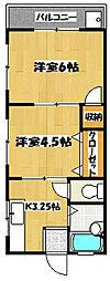 エクセレントYOKOSUKA[203号室]の間取り