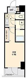 仙台市営南北線 勾当台公園駅 徒歩9分の賃貸マンション 9階1Kの間取り