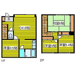 [テラスハウス] 北海道札幌市東区北二十四条東21丁目 の賃貸【/】の間取り
