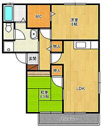 グリーンプラザ2[2階]の間取り