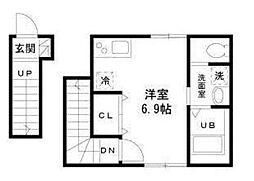 東京都品川区平塚1丁目の賃貸アパートの間取り