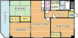 学園台ビル[2階]の間取り