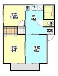SATOビル川井[2階]の間取り