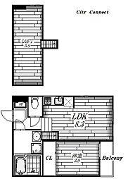 クレインハイツ本陣[2階]の間取り