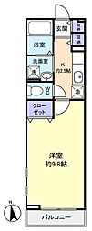 カーサ・プラシード[1階]の間取り