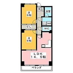 レジデンスヨシヤマ[4階]の間取り