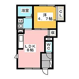 ソレイユ 1階[1階]の間取り