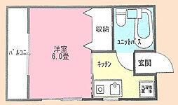 TY永田ハイツ[1階]の間取り