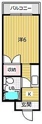 ハイツ都[2階]の間取り