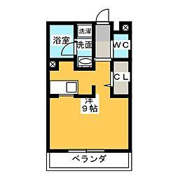 かぐや姫 壱番館[2階]の間取り