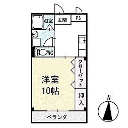 アイランドM 3階[302号室]の間取り