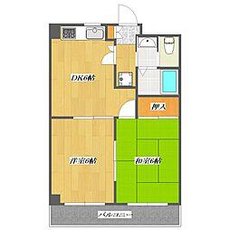 MATSUSHITA maison[402号室]の間取り