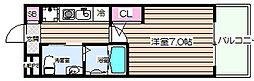 エスリード野田阪神駅前[7階]の間取り