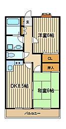 フローラ大泉[1階]の間取り
