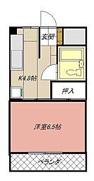 ハイネス黒崎[507号室]の間取り