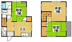 [一戸建] 神奈川県横須賀市佐野町3丁目 の賃貸【/】の間取り