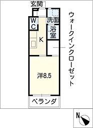 U・TOPIA36 1階1Kの間取り