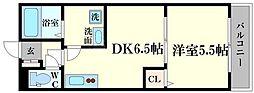 仮)森小路新築ハイツ 1階1DKの間取り