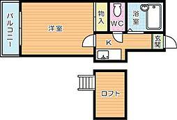 AC城野[105号室]の間取り