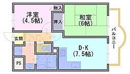K2ウィングス[1階]の間取り