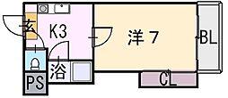 エクセル近大前[2階]の間取り