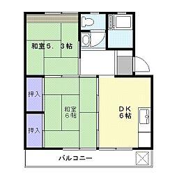 早茂マンションA棟[2階]の間取り