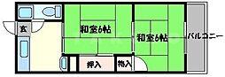 大阪府吹田市樫切山の賃貸マンションの間取り