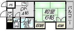 グレイスフル中崎1[3階]の間取り